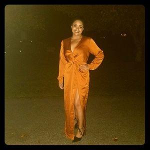 Forever21 Satin Maxi Dress